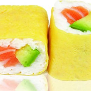 Maki saumon avocat egg